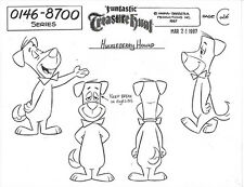 HUCKLEBERRY HOUND ~ FOUR-PAGE SET OF HANNA-BARBERA MODEL SHEET IMAGES