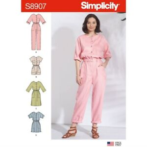 Simplicity Sewing Pattern 8907 Misses' Casual Jumpsuit Dress Playsuit