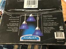Kichler 3 Light Pendant - Designer Light fixture - in Vibrant Cobalt Blue