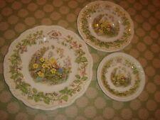 brambly hedge plates spring royal doulton bone china x 3