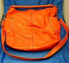 J.Crew Carnaby Carryall bright flame red leather tote purse cross body bag