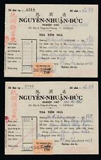 More details for 1963 & 1964 vietnam cong-hoa two documents / invoices fiscal revenue stamps