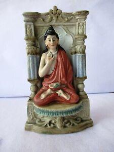"Antique German Bisque Figure Ravi Varma God Buddha Buddhist Buddhism Statue ""K9"