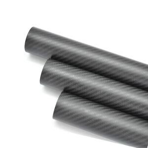 Carbon Fiber Tube OD 42mmx ID 40mm x 500mm Roll Wrapped 3K Matt Twill 42*40 Pole