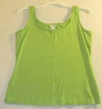 Doncaster Size M Stretchy Soft and Comfy Bright Green Tank Top