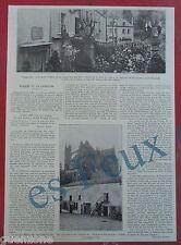 Document photo   Maurice BArres Hotel Ville de Lyon Metz   1924 print