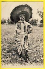 "cpa AFRIQUE MAGHREB ""TUNISIE"" CAVALIER en Costume de FANTASIA Spectacle Equestre"