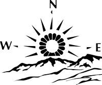 MOTORHOME CAMPER VAN CARAVAN / STICKERS /DECAL / GRAPHIC / COMPASS MOUNTAINS/
