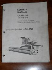 New Holland TR75  85 Combine Service Manual