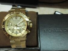 Michael Kors Bel Air Dylan Stainless Steel Gol-tone Chrono Watch Mk5313
