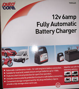Auto Care 12v 6 amp Fully Automatic Battery Charger TMX460