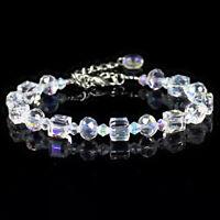 Women Aurora Borealis Crystal Bracelet Chain Wristband Adjustable Jewelry Summer