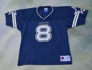 Vintage Champion NFL Dallas Cowboys Troy Aikman #8 Jersey Size Youth L (14-16).