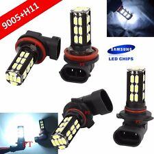 Combo Set H11 9005-HB3 Samsung LED 30 SMD White Headlight Light Bulb Hi/Lo Beam
