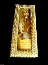 """BIRTHDAY GIFT 24K Gold Dipped 6"""" Real Rose in Gold Egyptian Casket Design Box"""