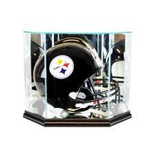 F/S Glass Black Football Helmet Display Case New UV NFL NCAA FREE SHIPPING