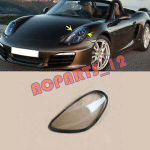 Left Side Clean Headlight Cover With Glue For Porsche Boxster 2012-2016