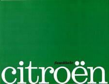 Citroen ID19 DS19 Break Familiale 1963 French market sales Brochure