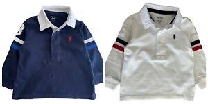 Baby Boys Girls Ex Ralph Lauren Polo cotton Rugby T shirt  6 9 12 18 24 mth