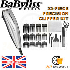 BaByliss For Men 7432U 22 PCS Mains Corded Salon Pro Hair Clipper Shaver Trimmer
