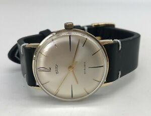 Vintage 14k 14ct solid gold Mens ROXY Swiss dress watch (9ct 18ct wristwatch)