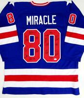 1980 Miracle On Ice Team USA Autographed Blue Jersey w/ 19 Sigs - JSA W Auth