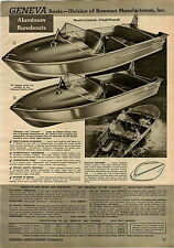 1957 PAPER AD 4 PG Geneva Aluminum Hull Outboard Motor Boats Fishing Tacoma