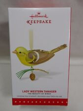 2015 Hallmark Keepsake Ornament Lady Western Tanager The Beauty Of Birds LE B35