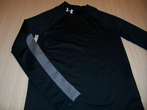 UNDER ARMOUR COLDGEAR FITTED BLACK LS COMPRESSION JERSEY BOYS MEDIUM 10-12 EXC.