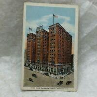 Vintage Postcard Hotel Ford Delaware Avenue Scene Buffalo New York Kropp