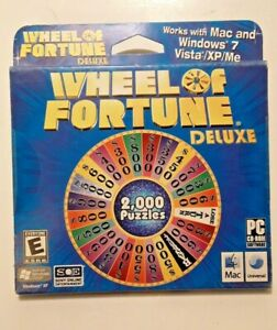 2008 Wheel of Fortune Deluxe PC CD-ROM Game Windows Vista XP Mac Sealed Sony NEW