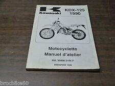 MANUEL REVUE TECHNIQUE D ATELIER KAWASAKI KDX 125 125KDX 1990-1998