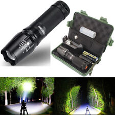 New 5000 Lumens Zoomable 5 Modes XML T6 LED Flashlight Torch Lamp+Case