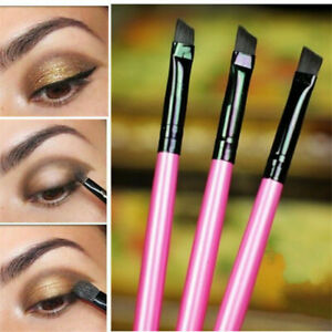3Pcs Makeup Brushes Set Oblique Angled Eyebrow Brush Eye Liner Brow Make Beauty