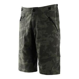 Troy Lee Designs 2021 Mens Flowline W/Liner MTB Shorts Camo Green All Sizes