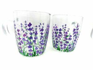 Handpainted coffee mug Gift for Mom Lavender mug Mother's Gift lilac mug