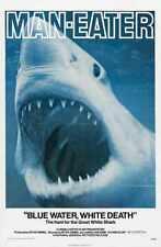 Blue Water White Death Poster 01 Metal Sign A4 12x8 Aluminium