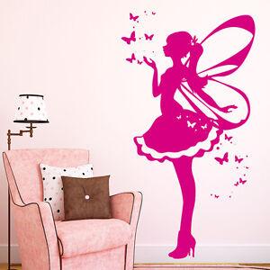 Wandtattoo Elfe mit Schmetterlingen Wunderland Fabel 10556 Mädchen Zimmer Fee