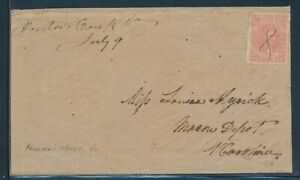 CSA #5 10c 1862 ON COVER VIRGINA TO NORTH CAROLINA WITH PF CERT CV $750+ BU8773