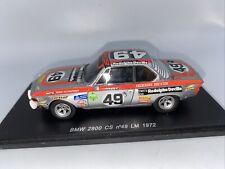 1/43 Spark 1972 BMW 2800 CS LeMans  Heyer Herzog Part # S1561