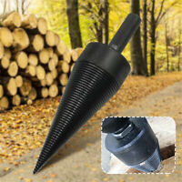 Log Splitter Drill Bit Screw Cone Kindling Firewood Hand Stick Copper 10mm