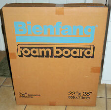 "Bienfang White Foam Board 22"" x 28"" - 3/16"" Thickness (Box of 25) New Old Stock"