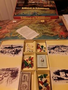 1965 Mine A Million Vintage Board Game, Boxed John waddington