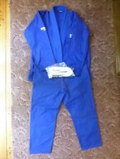 New - Hawk Jiu-Jitsu Gi Uniform, Blue, Adult Size A1, White Belt