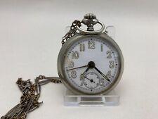 JUNGHANS  Taschenuhr mit Wecker  Gun Metall Travel Clock -  52 mm ca.1930