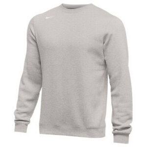 Mens Nike Club Fleece Crew Pullover Sweatshirt 835589 Black Grey Navy Blue Green