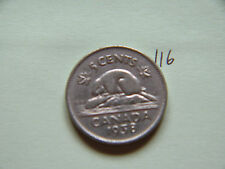 1938,  Canada 5c  Five Cents,  Nickel, Canadian