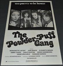 THE POWDER-PUFF GANG 1970's ORIGINAL 27x41 MOVIE POSTER! BAD GIRLS EXPLOITATION!