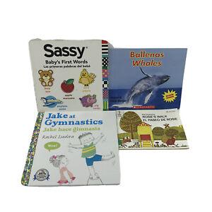 Bilingual Kid's Books in English and Spanish Set of 4 -SB