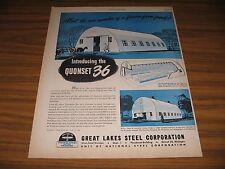 1947 Print Ad Great Lakes Steel Quonset 36 Farm Buildings Detroit,MI